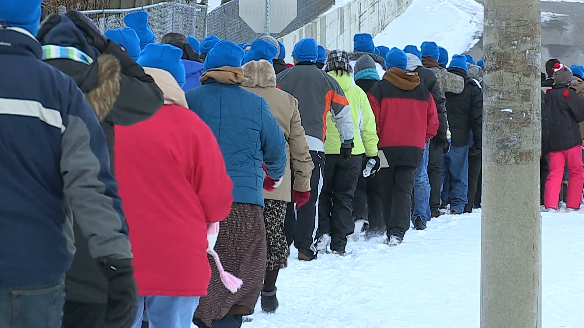 People walking in winter coats on freezing cold winter day Stock Video  Footage - VideoBlocks - People In Cold Winter PNG