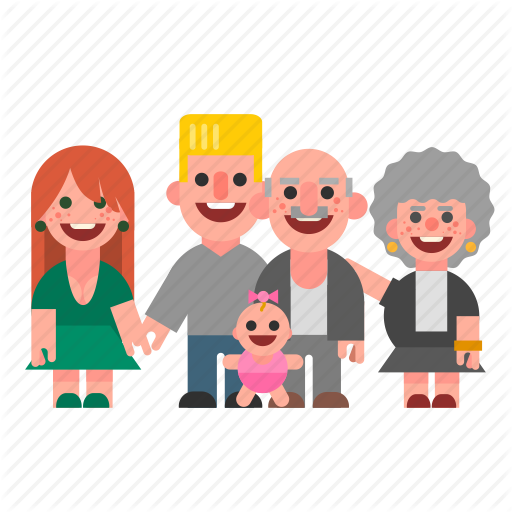 baby, dad, family, grandma, grandpa, mom, white icon - People PNG Mom And Dad