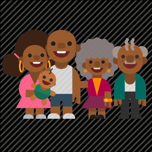 black, child, dad, family, grandma, grandpa, mom icon - People PNG Mom And Dad