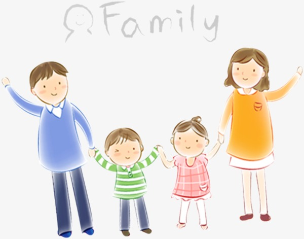 cartoon family, Family, Paternity, Mom And Dad PNG Image and Clipart - People PNG Mom And Dad