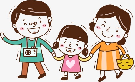 family, Mom And Dad, Daughter, Girl PNG Image and Clipart - People PNG Mom And Dad