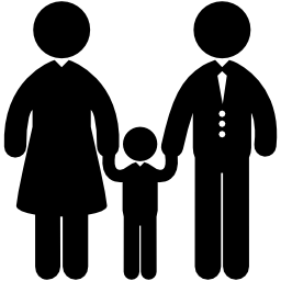 Family, Mom Dad and Child Flat Icons - People PNG Mom And Dad