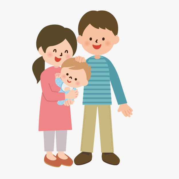 hand-drawn cartoon character villain image icon,mom and dad and baby,  Cartoon - People PNG Mom And Dad