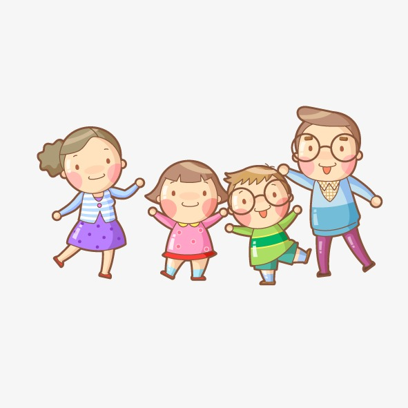 mom and dad son daughter cartoon image of a man, Cartoon, Character, The - People PNG Mom And Dad