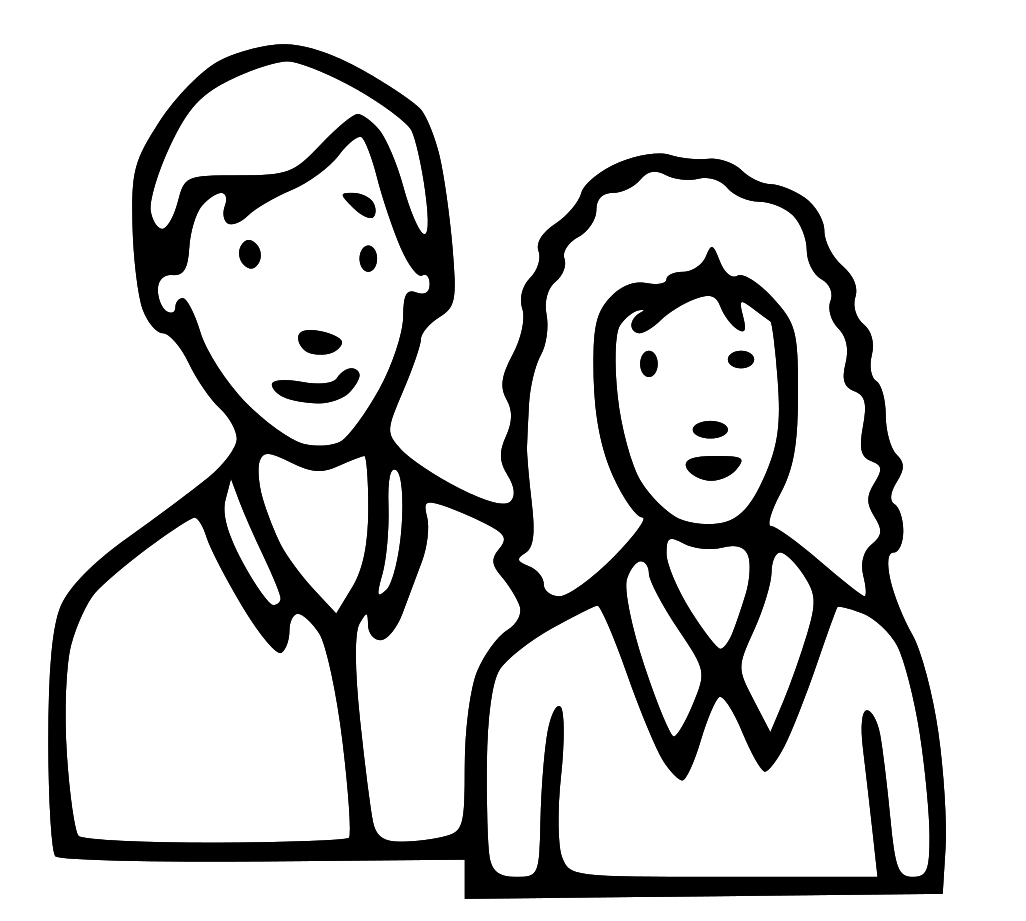 Mom Dad Coloring Pages In And - People PNG Mom And Dad