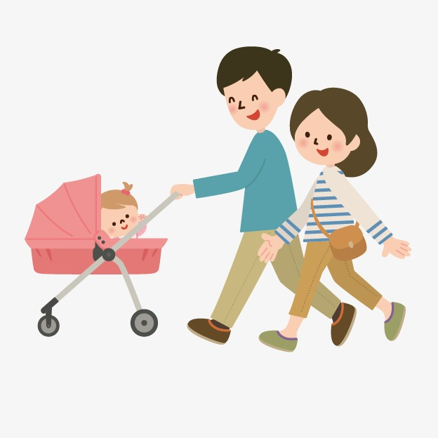 people vector people,mom and dad with a baby travel, Creative Cartoon  Villain, - People PNG Mom And Dad