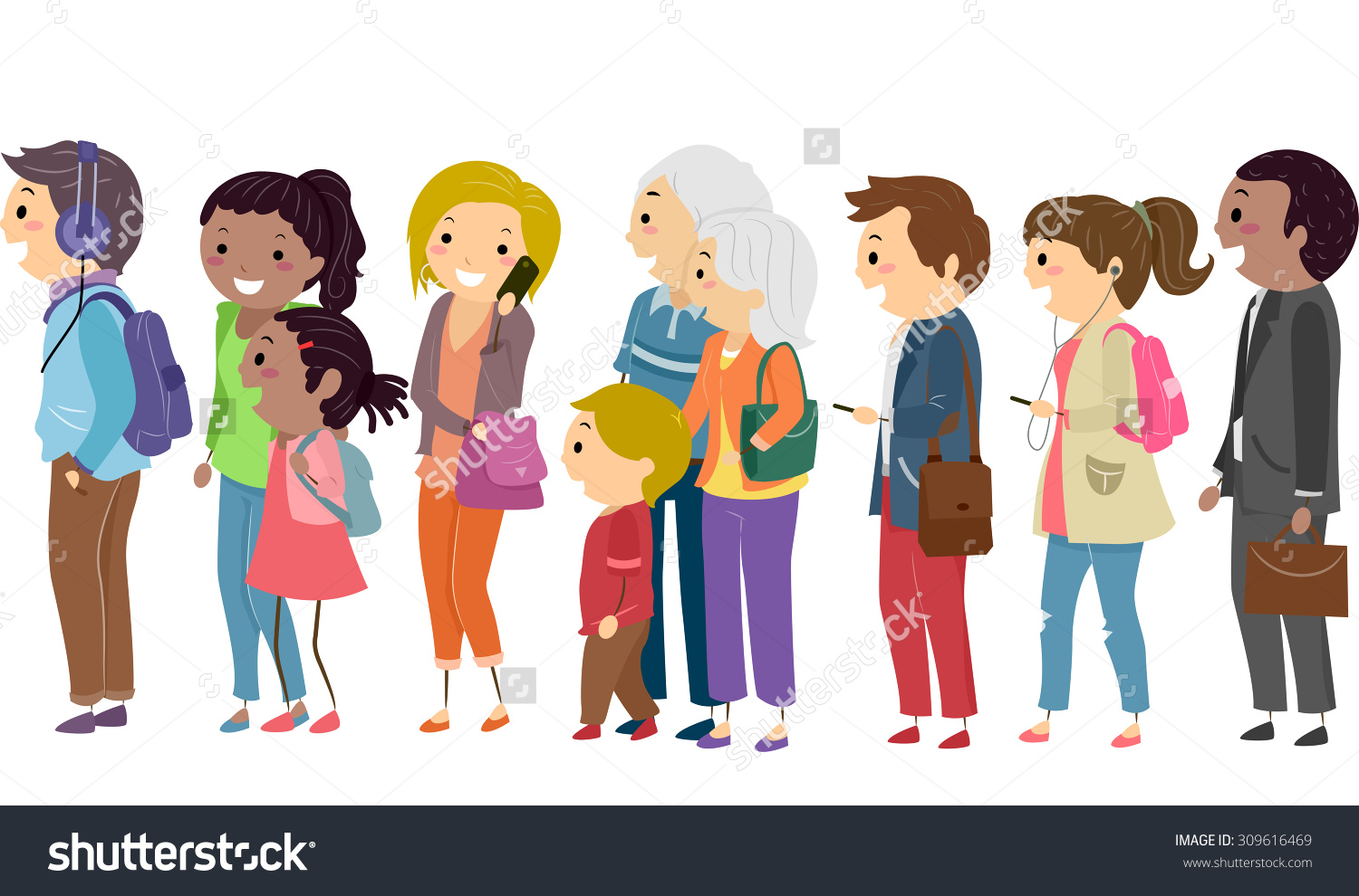 Waiting In Line People Clip Art Flash Wiring Diagrams M66t Melody Generator A Kids Transparent Rh Plus Com