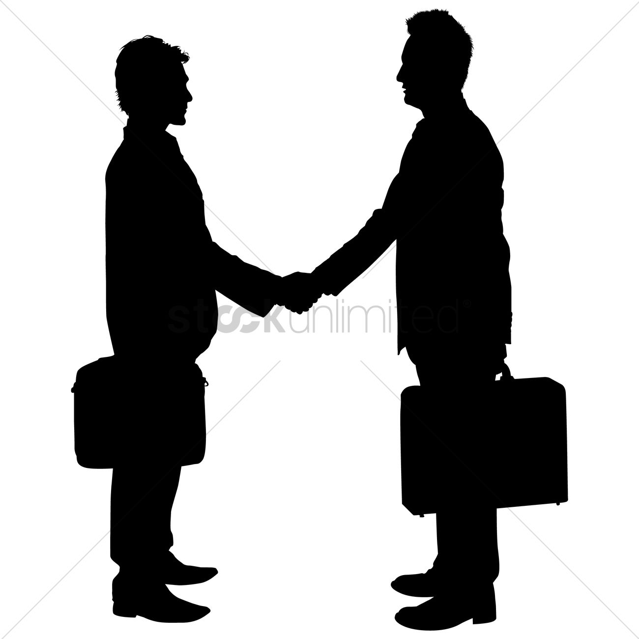 businessman shaking hands silhouette vector graphic - People Shaking Hands PNG HD