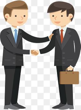 Vector business people shake
