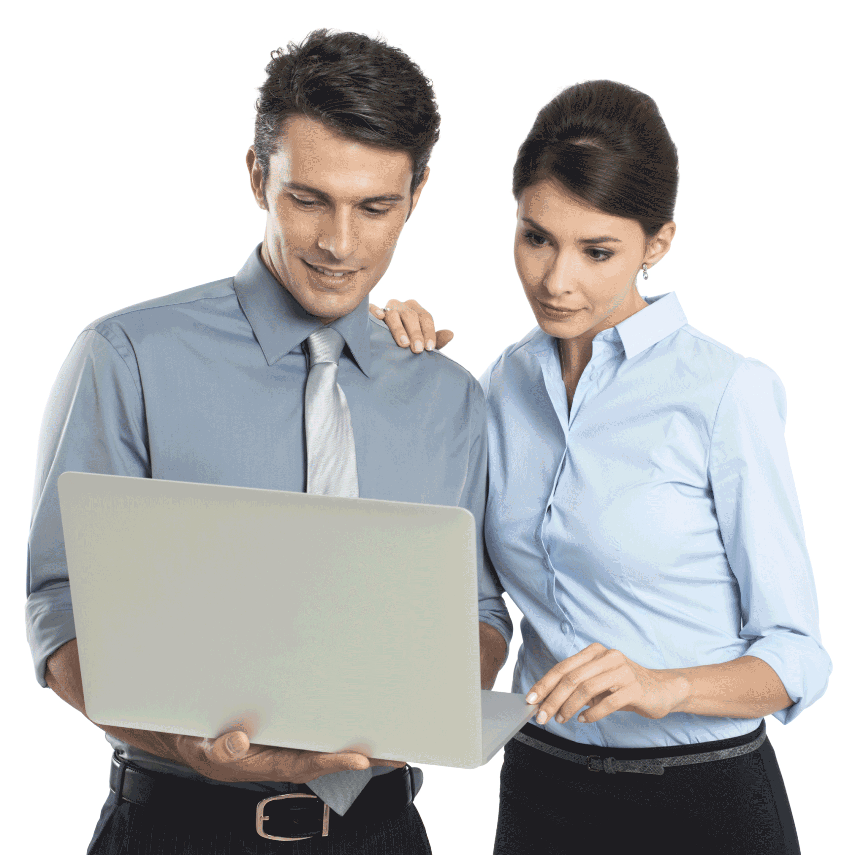 People Using Computer PNG