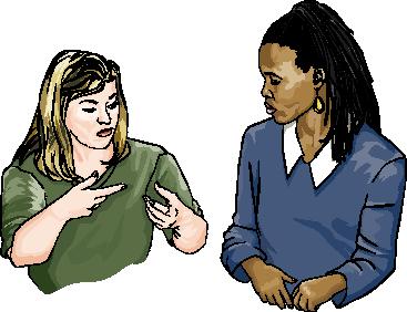 People Using Sign Language PNG