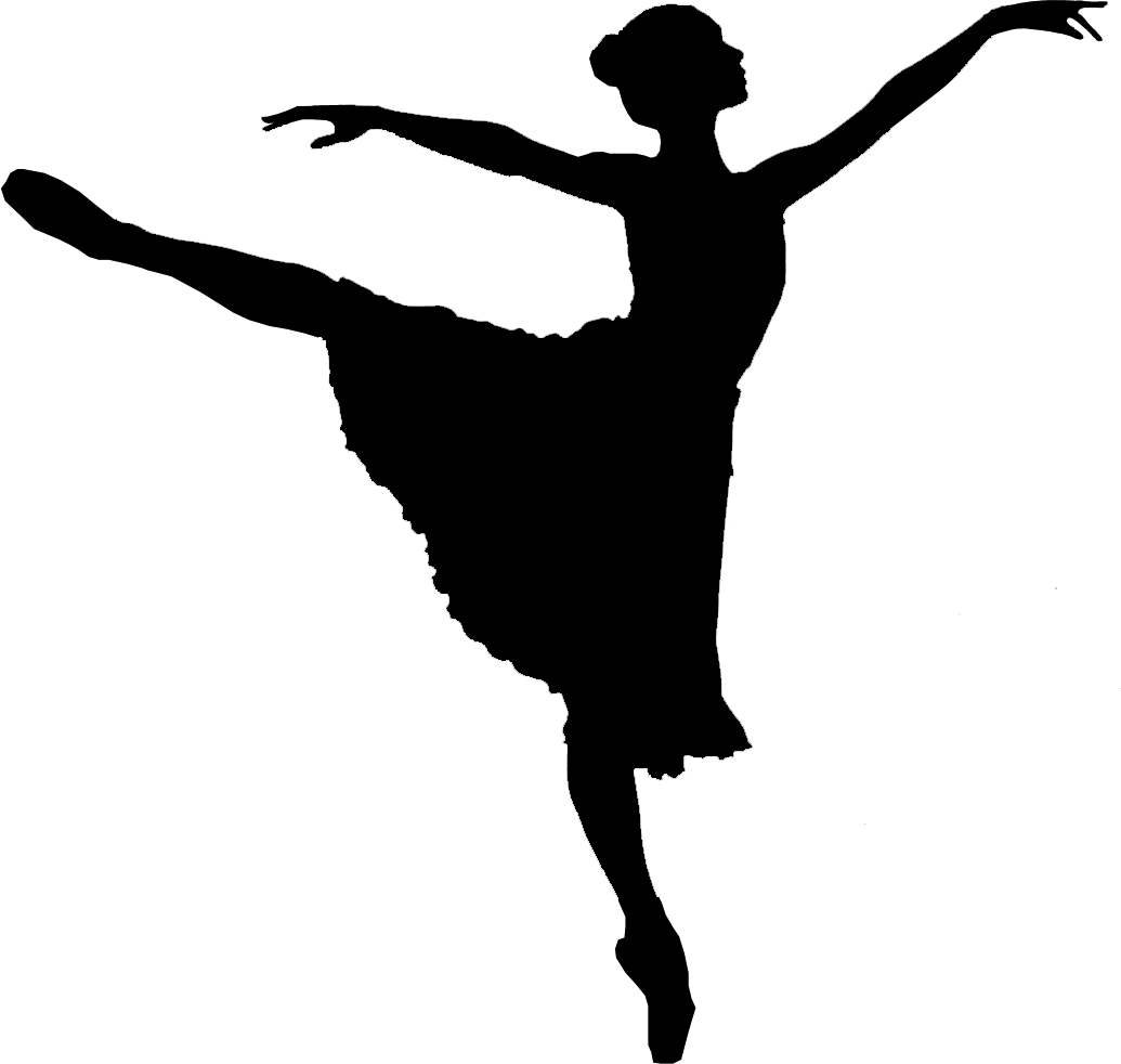 Ballet Dancer Silhouette - Person Dancing PNG HD
