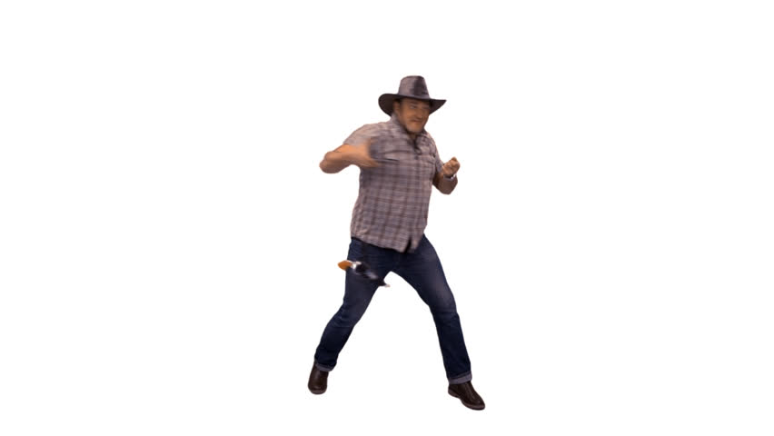 Country Western Cowboy Dancing, Singing And Shooting. Full HD Footage (on  Alpha Matte) Stock Footage Video 10508690 | Shutterstock - Person Dancing PNG HD
