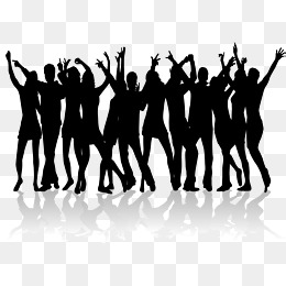Dancing material for many people, Dance Silhouette, Dancing Silhouette,  Square Dance Silhouette PNG - Person Dancing PNG HD