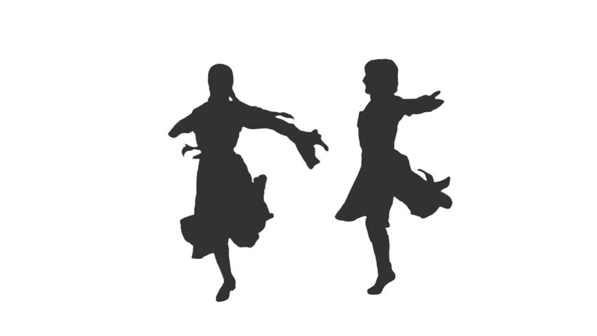 Silhouette Of A Dancing Man u0026 Woman. Dances Of Georgia And The Rest Of The  Caucasus. Full HD Footage With Alpha Channel Stock Footage Video 11397233 |  PlusPng.com  - Person Dancing PNG HD