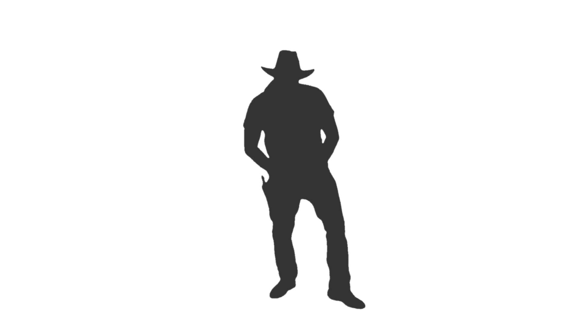 Silhouette of a man dancing cowboy dance, Full HD footage with alpha  channel Stock Video Footage - VideoBlocks - Person Dancing PNG HD