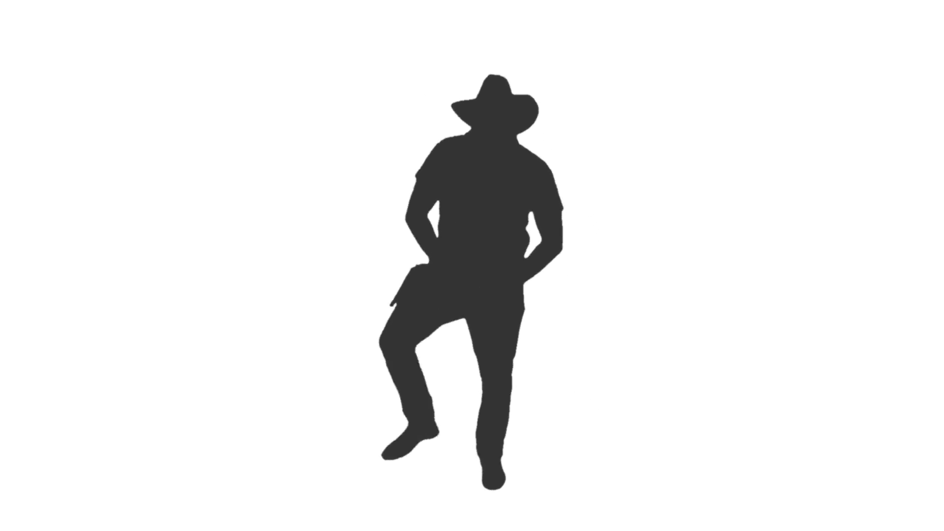 Silhouette of a man dancing in cowboy hat, Full HD footage with alpha  channel Stock Video Footage - VideoBlocks - Person Dancing PNG HD