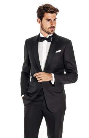 Black Tux.jpg - Person In A Suit PNG