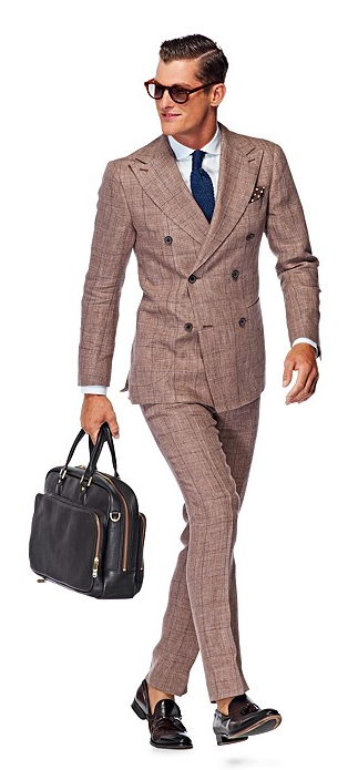 Suitsupply Madison Brown Suit - Person In A Suit PNG