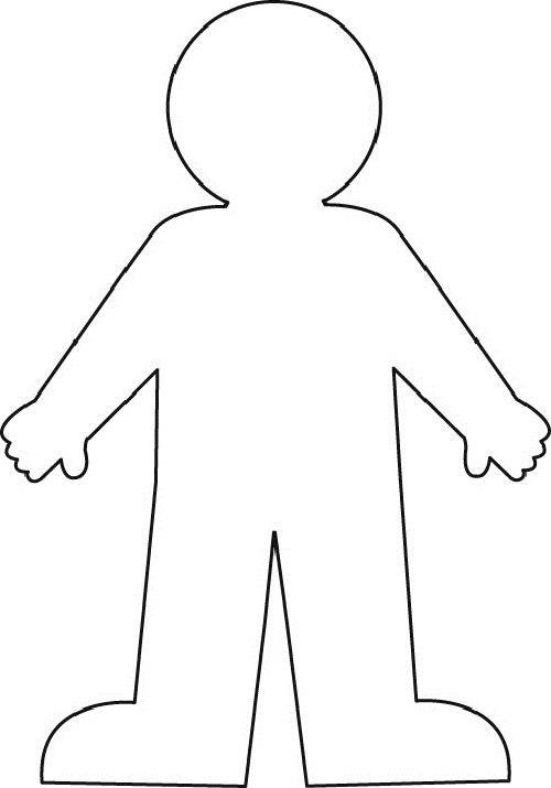 Person Outline Clip Art - 71221