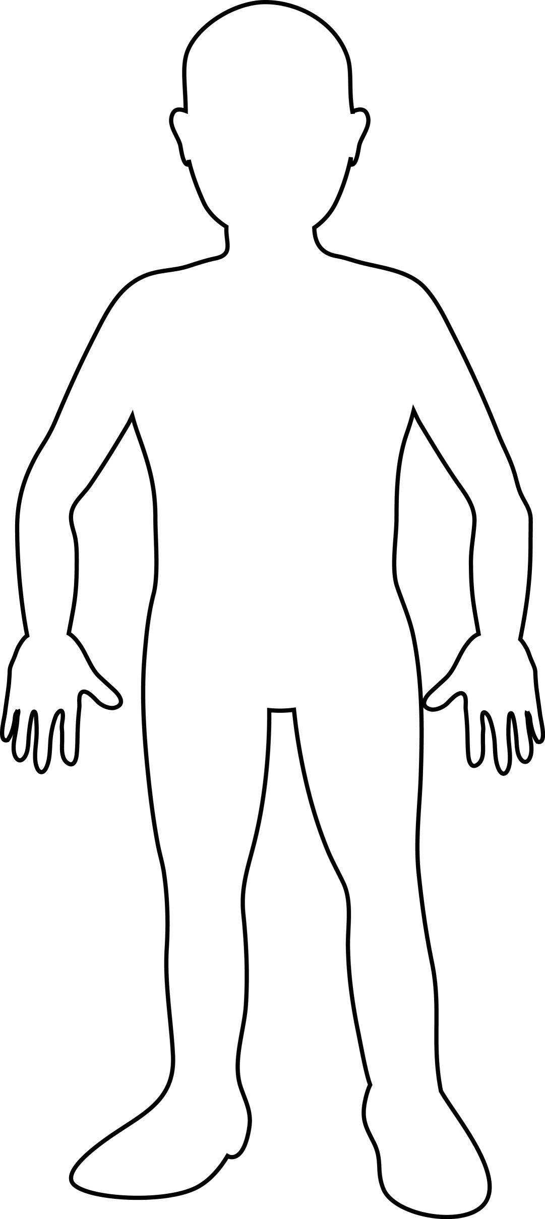 Person Outline Clip Art - 71229
