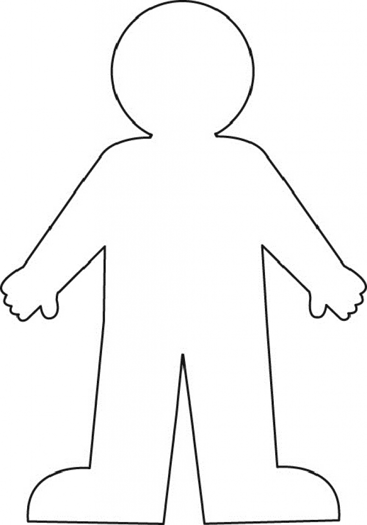 Template Of A Person Person Pattern Use The Printable Outline For