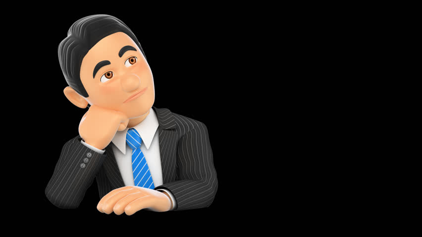 Businessman Thinking. Loop Animation. File Format Mov. Codec PNG Alpha.  Isolated With Alpha Channel. Stock Footage Video 17868385 | Shutterstock - Person Thinking PNG HD
