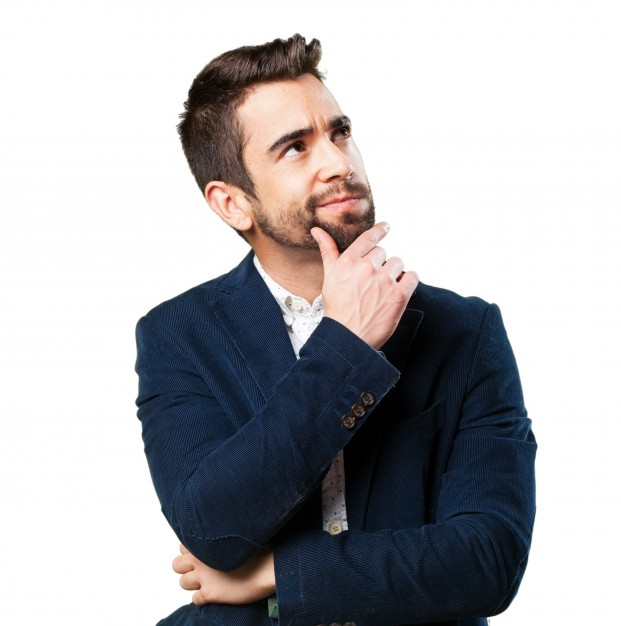 Serious man thinking - Person Thinking PNG HD