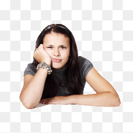 Thinking girl, Think, Girl, Sister PNG Image - Person Thinking PNG HD