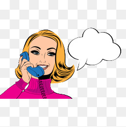 Call woman, Woman, Hand-painted Woman, Cartoon Woman PNG Image and Clipart - Phone Call PNG HD