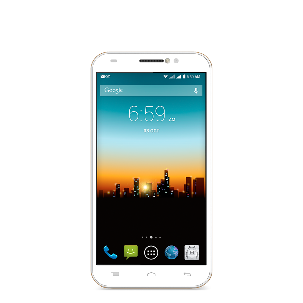 Posh Mobile Titan Pro HD E550 White Front - Phone HD PNG