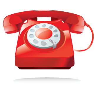 red phone png image - Phone PNG