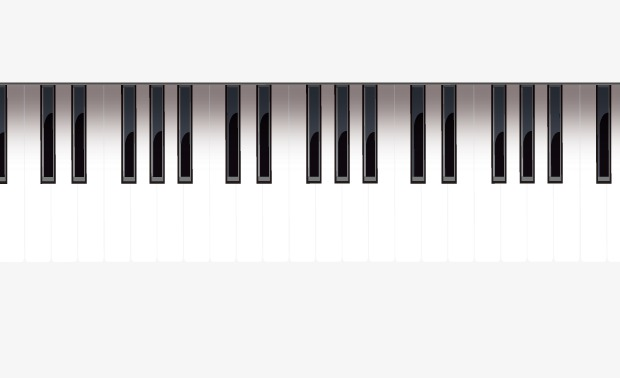 Vector black and white piano keys, Hd, Vector, Music PNG and Vector - Piano HD PNG