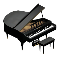 HD Piano.png - Piano PNG