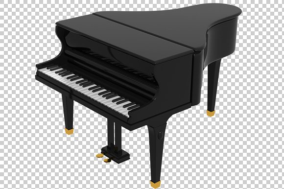 Piano - 3D Render PlusPng.com  - Piano PNG