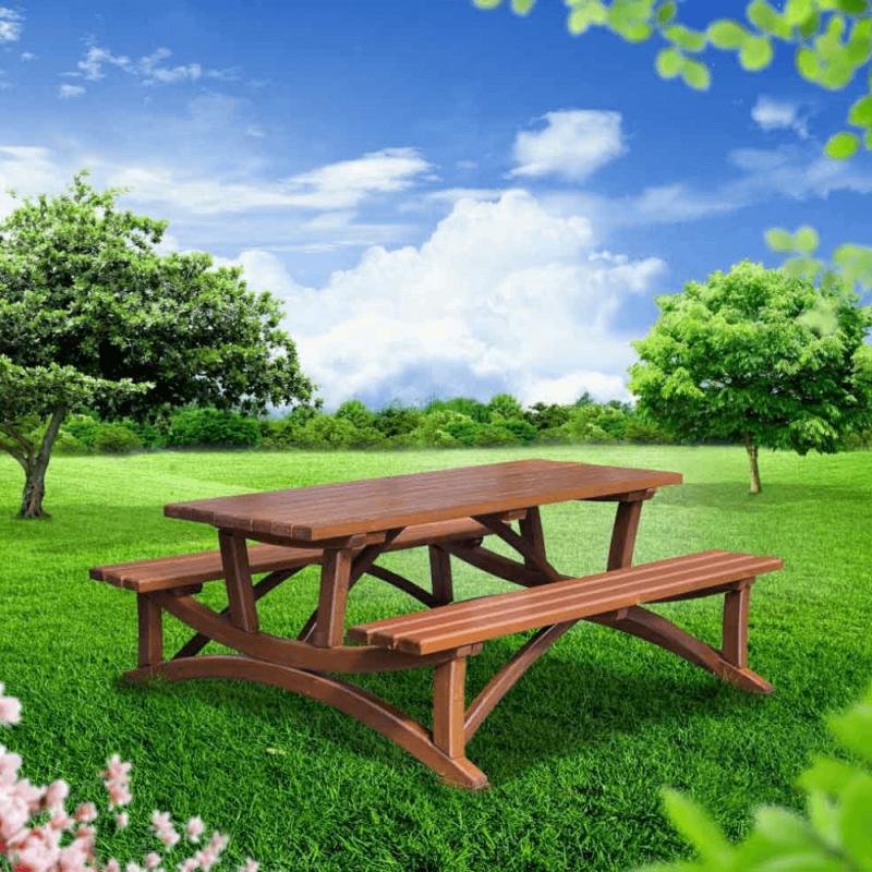 Ahşap piknik masası - Picnic At The Park PNG