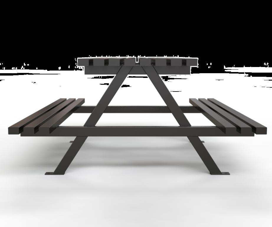 . PlusPng.com Au2013Frame Picnic Table - - Picnic Bench PNG