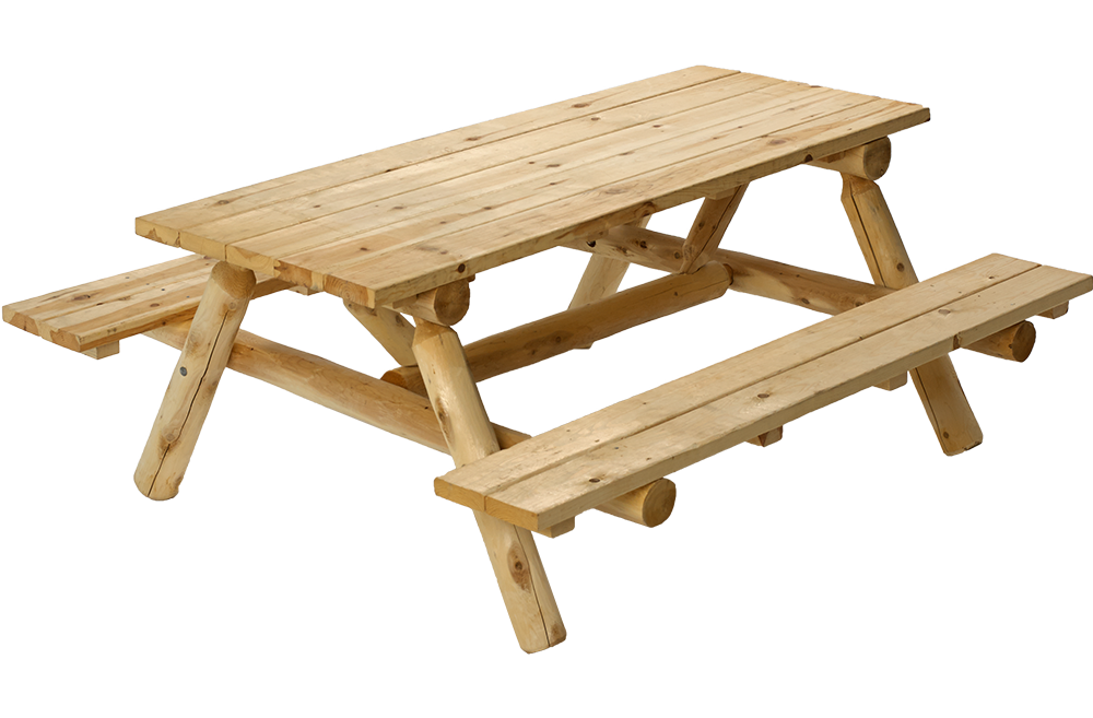 image gallery log picnic table - Picnic Bench PNG