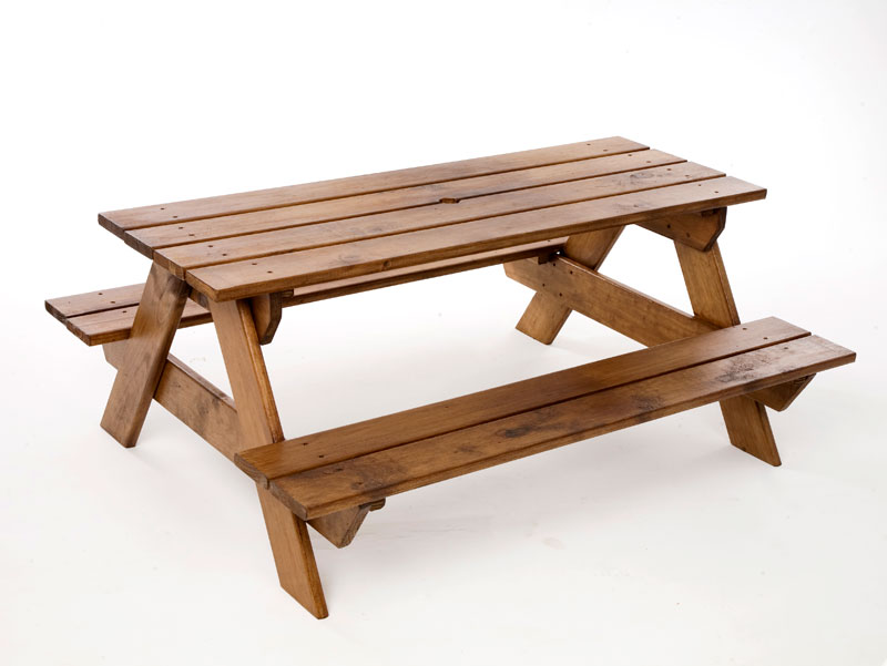 . PlusPng.com Just for Kids - Kids Wooden Picnic Table PlusPng.com  - Picnic Bench PNG