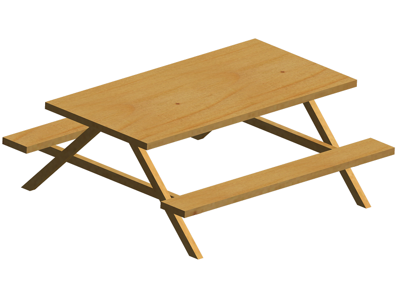Picnic Table by Satans-Comrade PlusPng.com  - Picnic Bench PNG