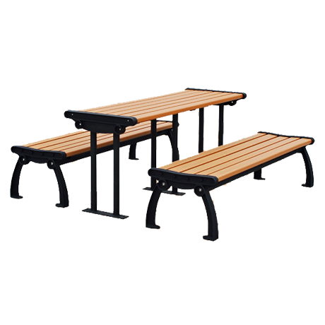 Recycled Plastic Picnic Table and Benches - Heritage Style, Recycled  Plastic Top and Seats, PlusPng.com  - Picnic Bench PNG