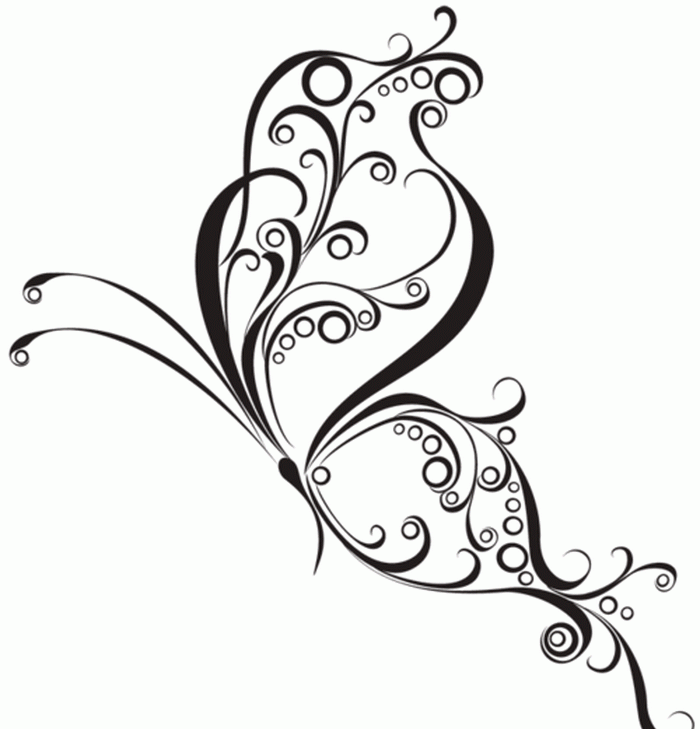 Picture-of-tribal-butterfly-tattoo-designs-designgif-13973153298kn4g. - Butterfly Design PNG