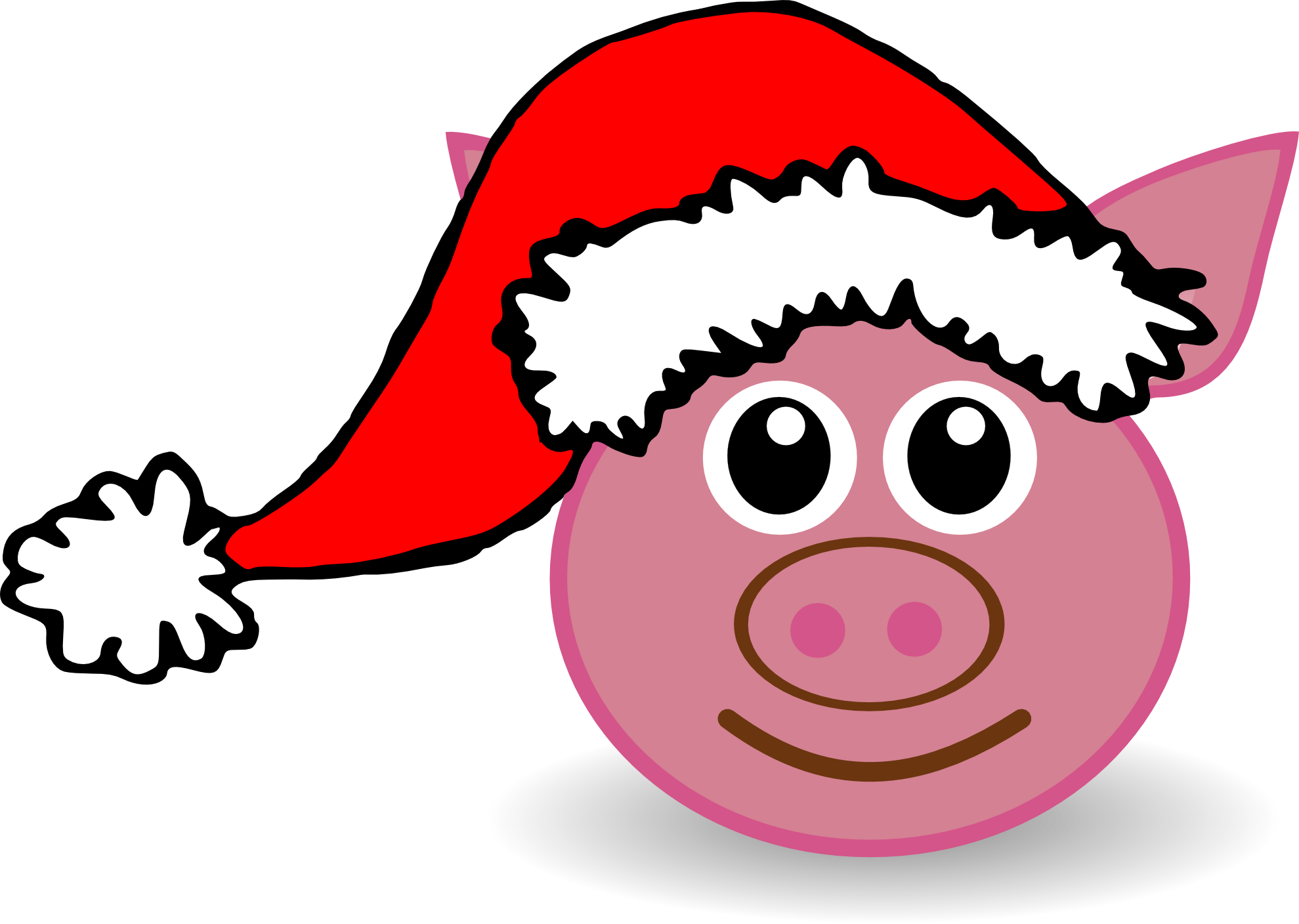 clipartist pluspng.com » Clip Art » palomaironique pig face cartoon pink - Pig Face PNG HD