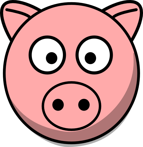 Pictures Of Cartoon Pigs - Pig Face PNG HD