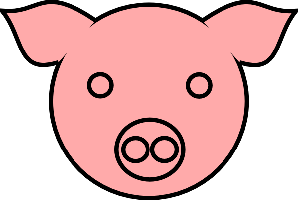 Pig Face Clipart Pig 9 Clip Art At Clker Vector Clip Art Online Royalty  Free Free - Pig Face PNG HD