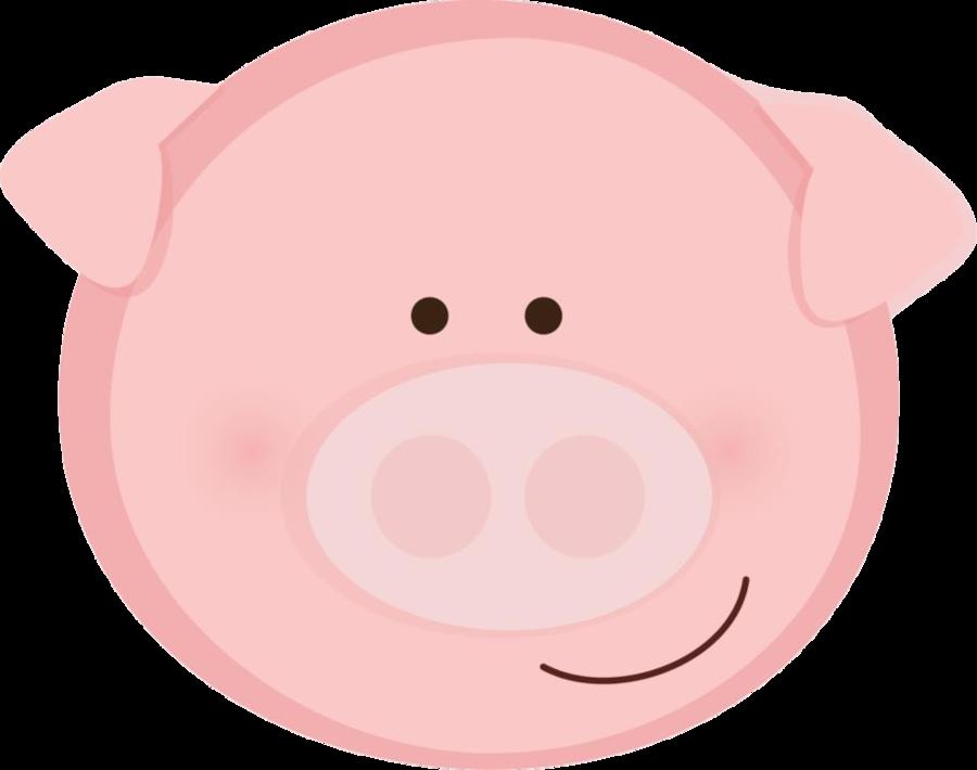 PINK PIG FACE CLIP ART - Pig Face PNG HD