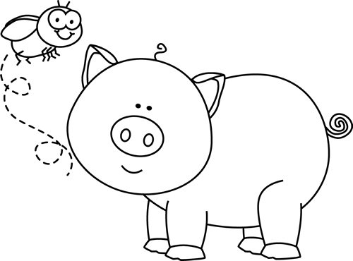 Pig Head PNG Black And White - 143083