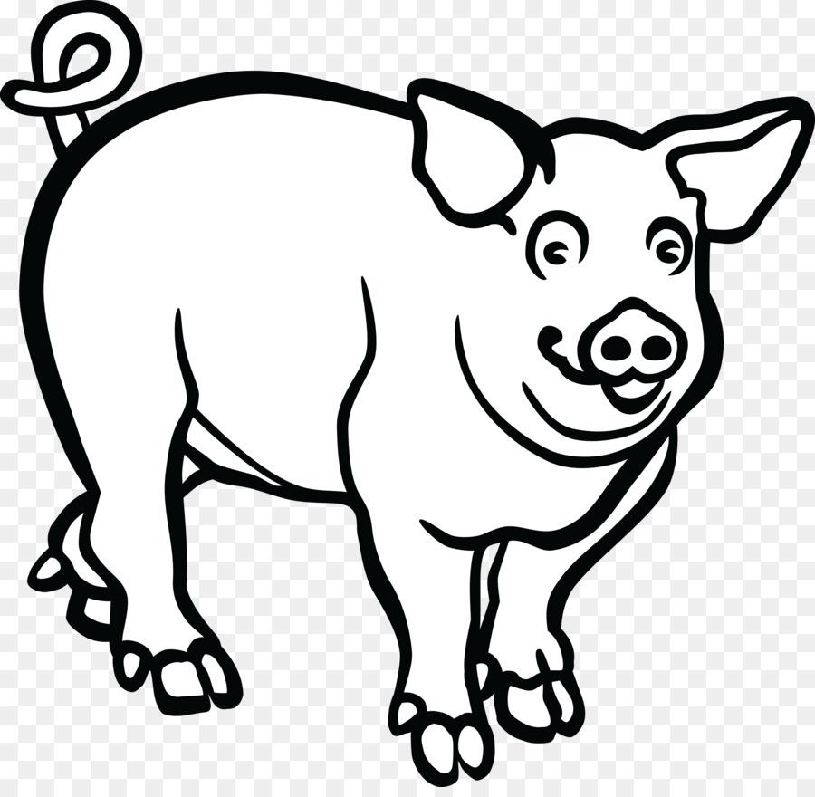 Pig Head PNG Black And White Transparent Pig Head Black ...