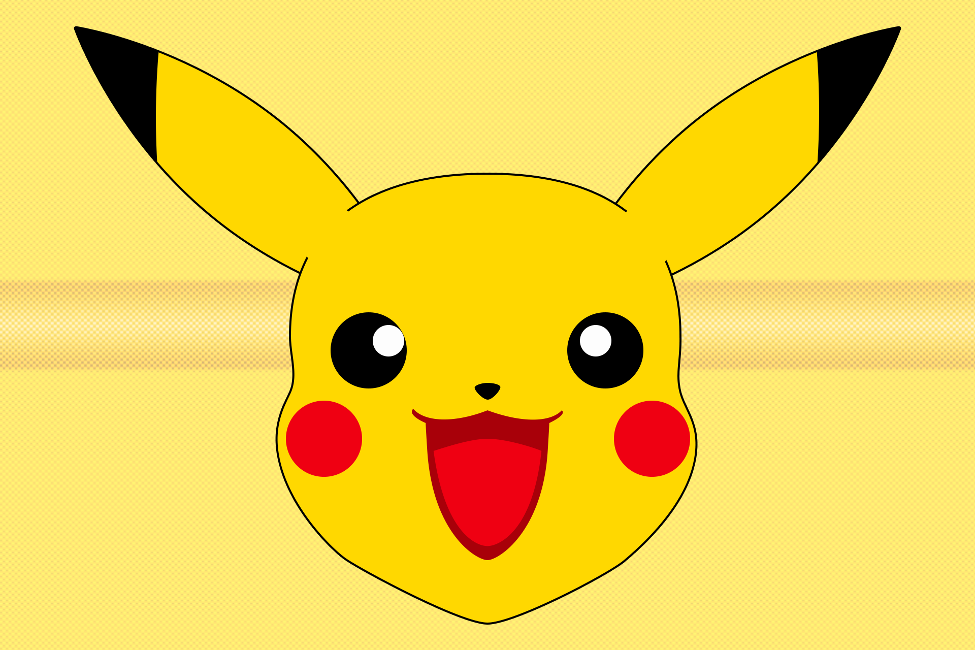 Click Here To Download Pikachu Cut Out Face Mask PNG PlusPng.com  - Pikachu Face PNG