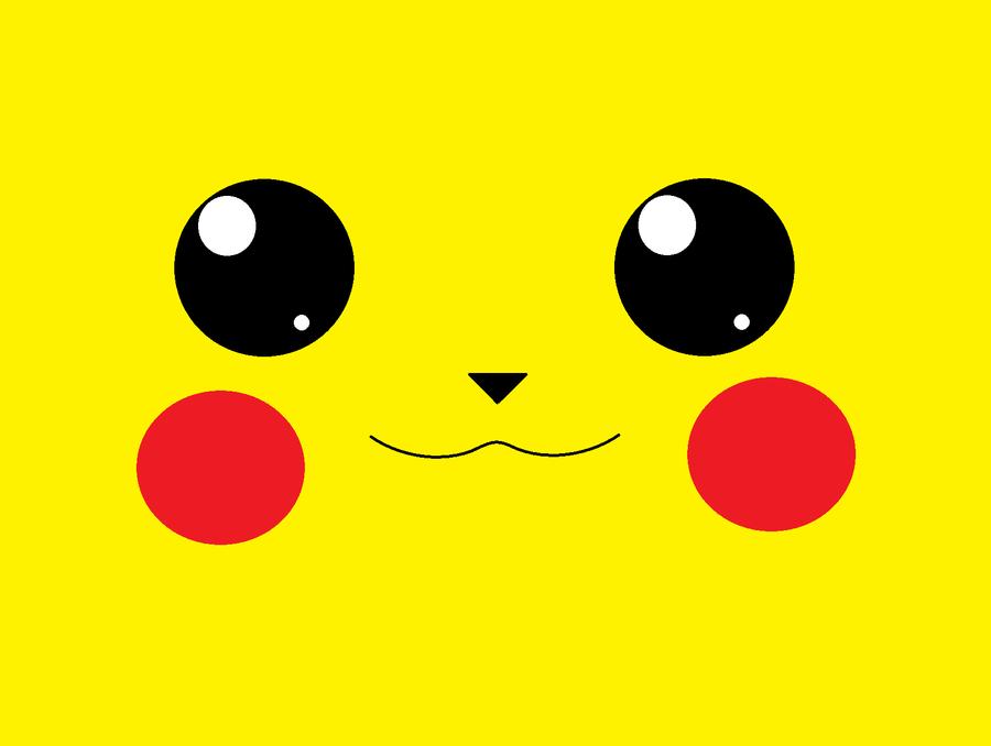 Pikachu Face by Bluey30142 PlusPng.com  - Pikachu Face PNG